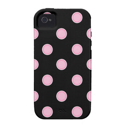 ¡Lunares rosados del chicle! iPhone 4/4S Carcasas
