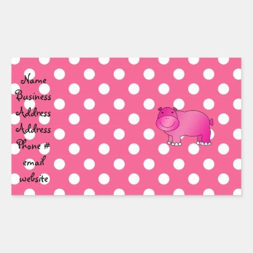 Lunares rosados del rosa del hipopótamo rectangular altavoz