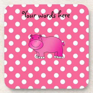 Lunares rosados del rosa del hipopótamo posavaso