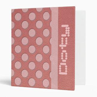 """Lunares rosados en la textura de cuero coralina carpeta 1"""""""