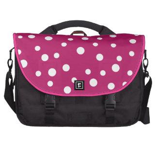 Lunares rosados femeninos bolsas de portátil