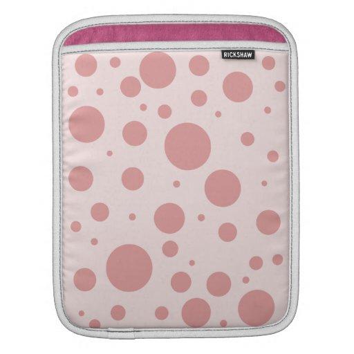 Lunares rosados funda para iPads