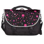 Lunares rosados negros bolsas de portátil