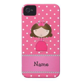 Lunares rosados personalizados de la princesa rosa iPhone 4 Case-Mate carcasas