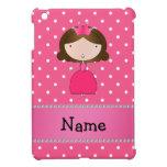Lunares rosados personalizados de la princesa rosa iPad mini fundas