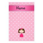 Lunares rosados personalizados de la princesa rosa  papeleria de diseño