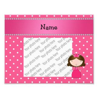 Lunares rosados personalizados de la princesa rosa fotos