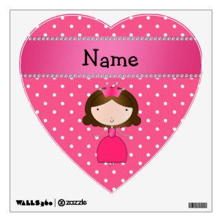 Lunares rosados personalizados de la princesa rosa vinilo decorativo