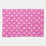 lunares rosados toalla de cocina