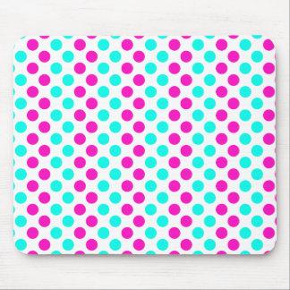 Lunares rosados y azules mouse pads