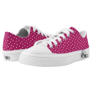 Lunares rosados y blancos de la baya linda zapatillas