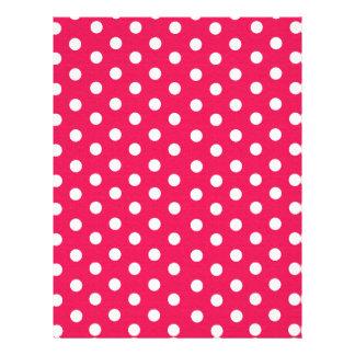 """Lunares rosados y blancos folleto 8.5"""" x 11"""""""