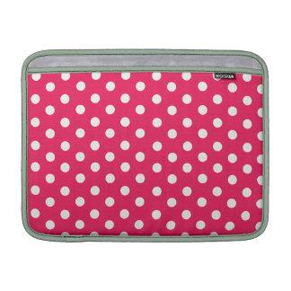 Lunares rosados y blancos fundas MacBook