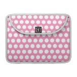 Lunares rosados y blancos fundas para macbooks