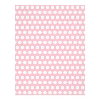 Lunares rosados y blancos plantilla de membrete