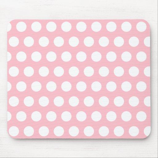 Lunares rosados y blancos tapetes de raton