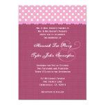 Lunares rosados y boda del borde de la cinta comunicado