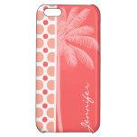 Lunares rosados y coralinos tropicales
