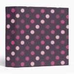 Lunares rosados y púrpuras