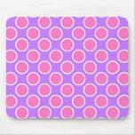 Lunares rosados y púrpuras alfombrilla de ratones