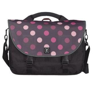 Lunares rosados y púrpuras bolsas de portatil