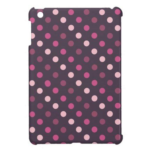 Lunares rosados y púrpuras iPad mini funda