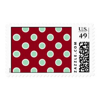 Lunares sofisticados del navidad - medio timbres postales