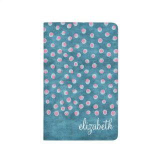 Lunares sucios de la acuarela - azul y rosa cuadernos