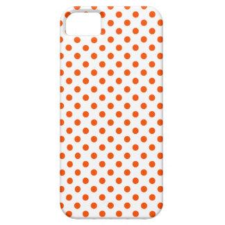 Lunares - Tangelo en blanco iPhone 5 Carcasa