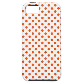 Lunares - Tangelo en blanco iPhone 5 Protector