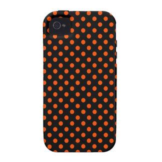 Lunares - Tangelo en negro Case-Mate iPhone 4 Carcasas