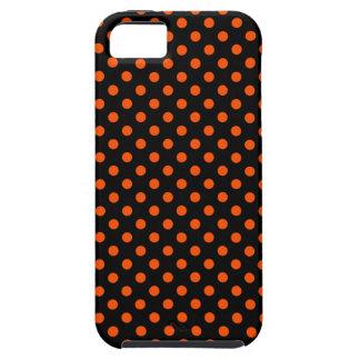 Lunares - Tangelo en negro iPhone 5 Funda
