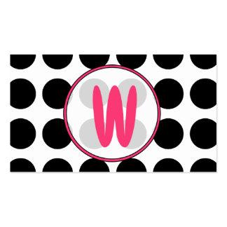 Lunares/tarjeta de visita rosada de moda del