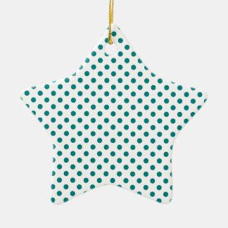 Lunares - trullo en blanco adorno de cerámica en forma de estrella