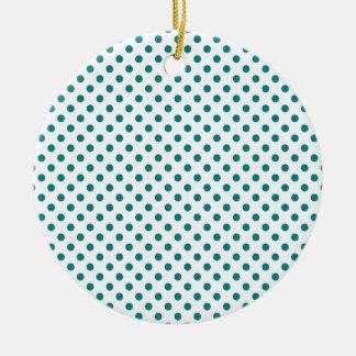 Lunares - trullo en blanco adorno redondo de cerámica