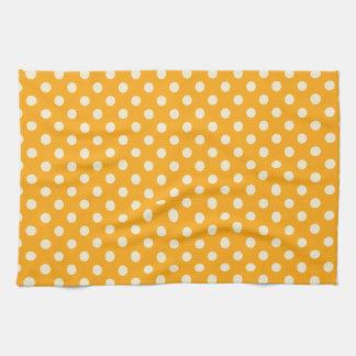 Lunares - vainilla en la mandarina oscura toallas de cocina