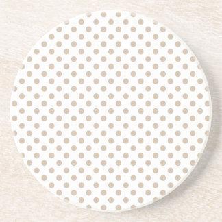 Lunares - vainilla oscura en blanco posavasos manualidades