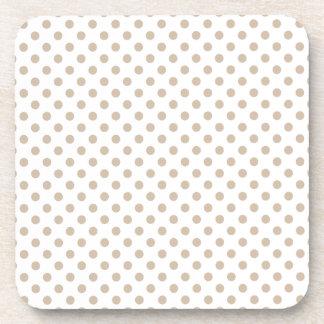 Lunares - vainilla oscura en blanco posavaso