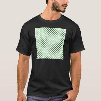 Lunares - verde en blanco playera