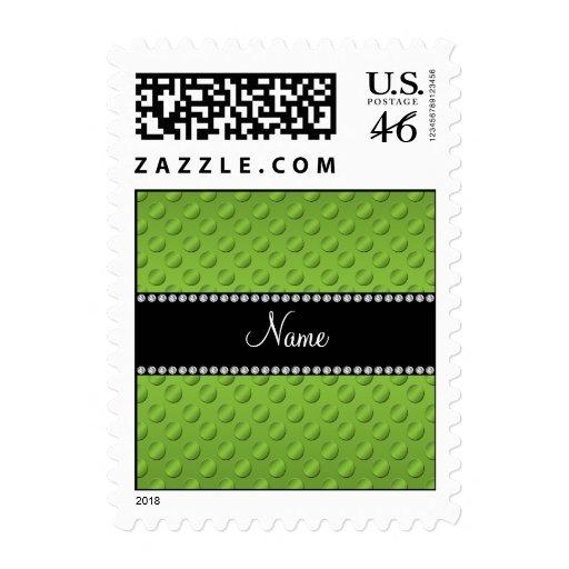 Lunares verdes conocidos personalizados sello