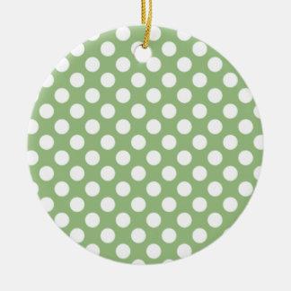 Lunares verdes del laurel ornamente de reyes