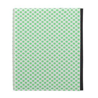 Lunares verdes en blanco