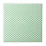 Lunares verdes en blanco azulejos ceramicos