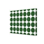 Lunares verdes en blanco impresiones en lona estiradas