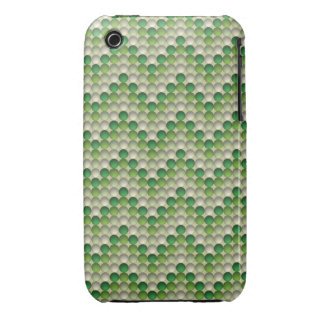Lunares verdes en modelo de zigzag funda para iPhone 3