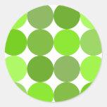 Lunares verdes grandes etiquetas