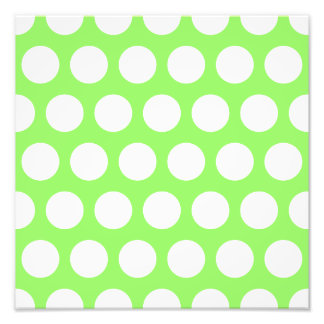 Lunares verdes y blancos impresión fotográfica