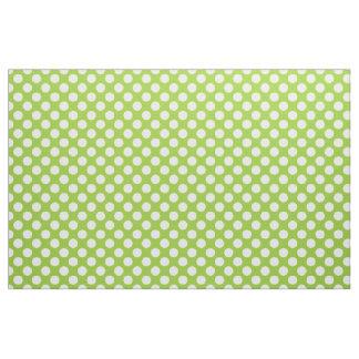 Lunares verdes y blancos telas
