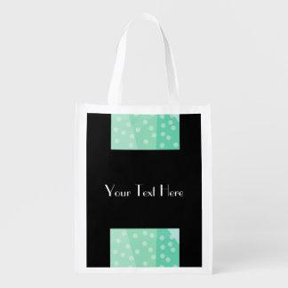 Lunares verdes y bolso reutilizable de los puntos bolsas reutilizables