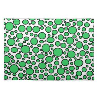 Lunares verdes y negros Placemat Mantel